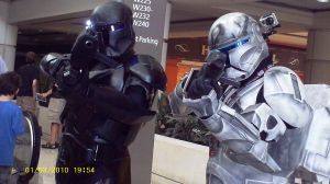 2 clones at the starwars con by Deidara1717