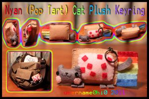Nyan Cat Plush Keyring by username0hi0