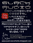 Black Audio Font by DarkoJuan