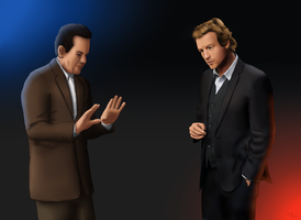 The Mentalist Patrick Jane and Adrian Monk by JackJasra