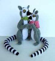 Knitted Lemurs from KnitLizzy by Pickleweasel360