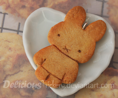 Bunny Cookie Pendant by DeliciousTrickery