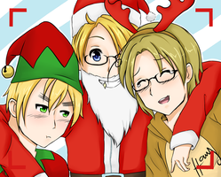 [Secret Santa] Smile for the camera! [Hetalia] by YerBestFriend99