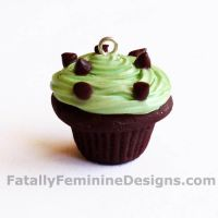 Mint Chocolate Chip Cupcake by FatallyFeminine