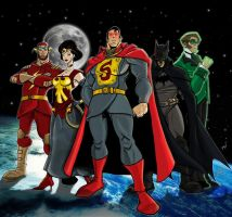 JLA by Gaslight by drvce
