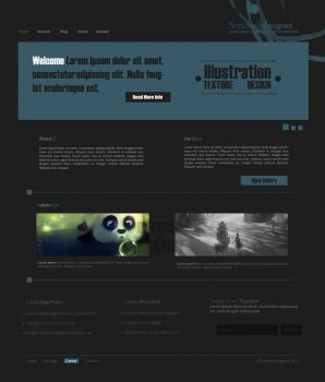 Seriously Designed - Web Layout by Bellie