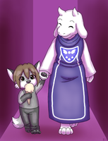 Jake and Toriel by Ani-Sempai