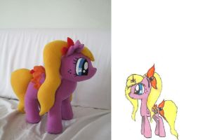 Pencil Flower Pony OC by PlushWorkshop
