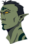 Orc Psychic by Belabras