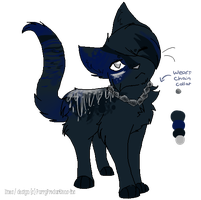 Dark Frost Cat :Adopt Auction: [CLOSED] by PurryProductions-Inc