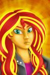 Sunset Shimmer`s portrait by SyoriNikebane