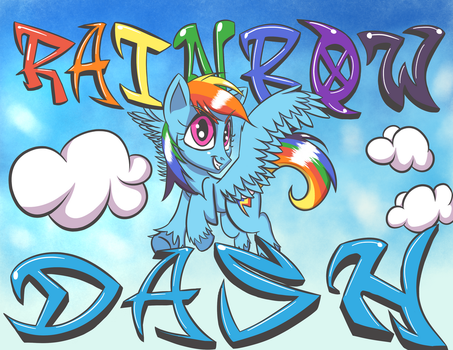 Rainbow Dash Poster (Normal) by SirDeeViant