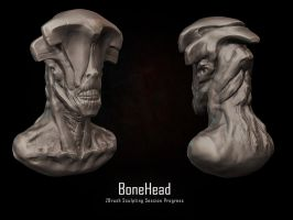 BoneHead - ZSculpting Session by eXecutex by eXecutex