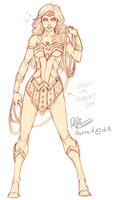 Wonder Woman Design WIP by Harseik