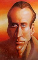 Nicolas Cage_caricature by jiangchen
