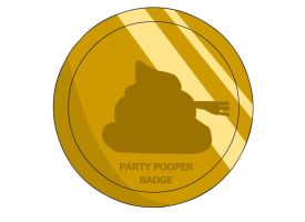 Party Pooper Badge by RyuPointGame