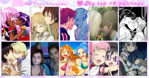 My top ten of YURI pairings (2nd version) by celes91