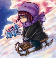 Sledge ride by Mirella-Gabriele