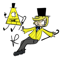 Bill cipher (Human included package) by Vinkisalwaysconfused