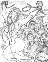 Rough for EMPOWERED UNCHAINED cover by AdamWarren