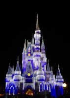 Magic Kingdom Cinderella Castle Night Glow 1 by Arii-Suzuki