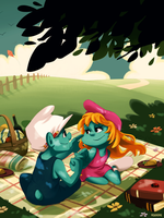 Smurfs: Handy and Lainette by student-yuuto