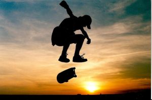 Sunset Heelflip by Rocketship17