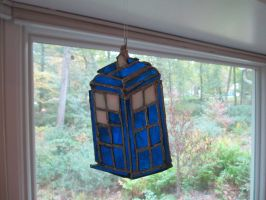 Stained Glass Tardis by Turtlgandalf