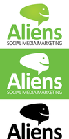 Aliens Social Media Logo Template by xstortionist