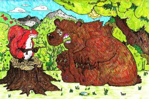 Bear and squirrel by super-rick