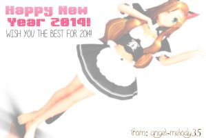Happy New Year 2014 from Me :3 by Angel-Melody35