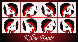 MLP OC Faces - Killer Beats by outlaw4rc