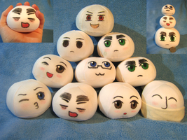 Character Mochis For Sale~! by MidnightCootie