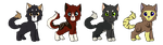 Kitten Adoptables : 30 Points by FeralAdopts