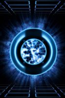 Blue Exploding tron ID Disc by KalEl7