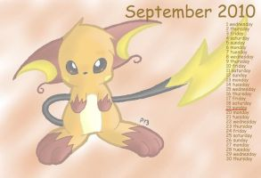 Pkmn Calendar '10-September by Peeka13