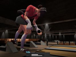 Giantess Female Scout going bowling by ThatGUYGTS
