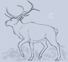 Astral Elk by Owlheart