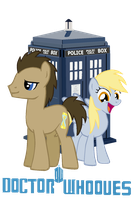 Doctor Whooves And Derpy by T-Shadow-Dragon
