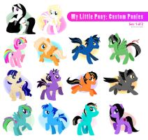 My Little Pony: Custom Ponies by rincharmie