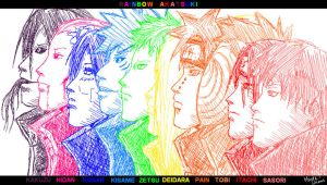 --+Akatsuki Rainbow+-- by Marre-Chan95