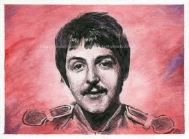 Paul McCartney / The Beatles - Watercolor and Ink by NateMichaels