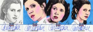 Star Wars Galaxy 7 Sketchagraphs: Carrie Fisher by AllisonSohn
