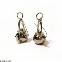 Tea Pot Earrings by bluucircles