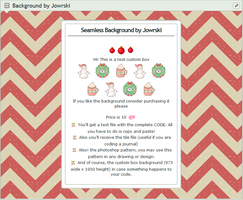 Chevron Christmas Custombox BG(CODE+*.pat+bg+tile) by Jowrski