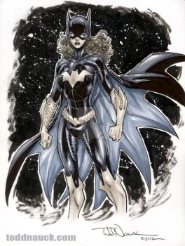 New 52 Batgirl grayscale by ToddNauck
