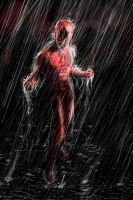 Daredevil in the Rain by LeonardoEnrique