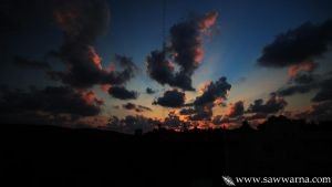 magical red sky by boudi305