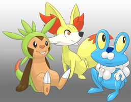 X and Y starters by Panoptos