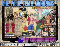 Mugiwaras New World Theme Windows 7 by Danrockster